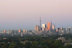 gryning i stadens centrum toronto Royaltyfri Fotografi