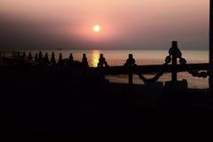 Gryning på Blacket Sea Royaltyfria Bilder