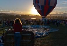 Gryning på den stora Reno Balloon Race Arkivfoto