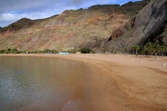 Gryning på en strand av Tenerife Royaltyfria Bilder
