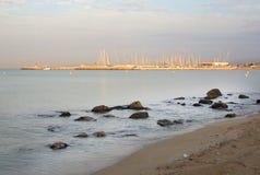 Gryning på Playa de Palma Royaltyfria Foton