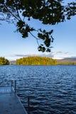 Gryning på Squam sjön Royaltyfri Bild