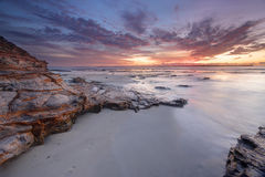 Gryninghimlar på kolonipunkt Jervis Bay Australia Arkivfoto