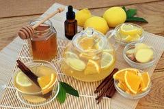 Grypa i Zimni remedium składniki zdjęcie stock