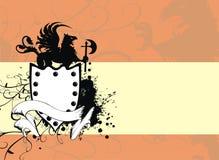 gryphon предпосылки heraldic Стоковое Изображение RF