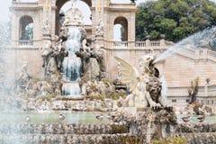 Gryphon at the fountain of parc de la ciutadella in Barcelona, S Stock Photography