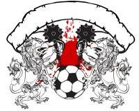 Gryphon piłki nożnej żakiet ręka grzebienia tshirt Obrazy Royalty Free