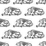 Gryphon seamless pattern Stock Photography