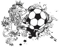 Gryphon soccer coat of arms crest crown Royalty Free Stock Photography