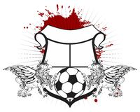 Gryphon soccer coat of arms crest 2. Gryphon soccer coat of arms crest in vector format stock illustration