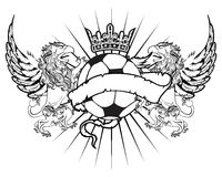 Gryphon soccer coat of arms crest 4 Stock Images