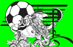 Gryphon soccer crest background 2 Stock Photo
