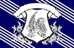 Gryphon soccer crest background 3 Royalty Free Stock Photos
