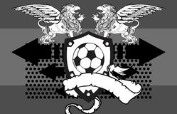 Gryphon soccer crest background 4. Gryphon soccer crest background in vector format very easy to edit stock illustration
