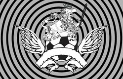 Gryphon soccer crest background 5. Gryphon soccer crest background in vector format very easy to edit stock illustration