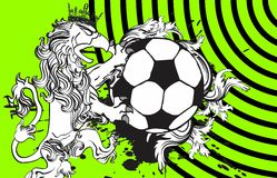 Gryphon soccer crest background 6. Gryphon soccer crest background in vector format very easy to edit stock illustration