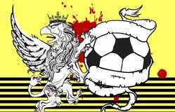 Gryphon soccer crest background 7 Stock Images