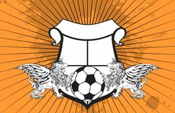 Gryphon soccer crest background 8. Gryphon soccer crest background in vector format very easy to edit stock illustration