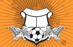 Gryphon soccer crest background 8 Stock Photos