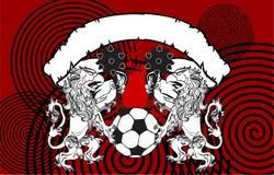 Gryphon soccer crest background 9 Stock Images