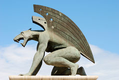Gryphon statue Royalty Free Stock Photo