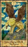 Gryphon Tien van zwaarden Royalty-vrije Stock Afbeelding