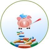 grypowa świnia Zdjęcie Stock