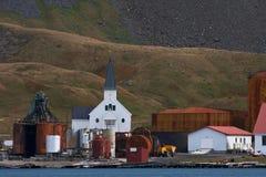 Grytviken Zuid Georgia, Grytviken South Georgia stock photo