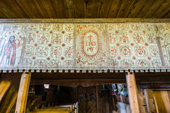 Grywald, POLAND - August 11, 2016; Interior of  wooden 15th cent Royalty Free Stock Photo