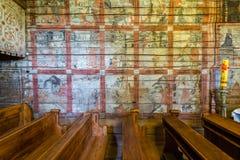 Grywald, POLONIA - 11 de agosto de 2016; Interior del décimo quinto centavo de madera Imágenes de archivo libres de regalías