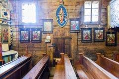 Grywald, POLONIA - 11 de agosto de 2016; Interior del décimo quinto centavo de madera Fotografía de archivo libre de regalías