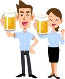Grzanka lato odzieży grzanka z piwem ilustracja wektor