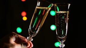 Grzanka z szkłem szampan zbiory wideo