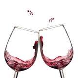 grzanki wino Zdjęcie Royalty Free