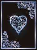 Grzebaków karciani serca, wektor ilustracja wektor