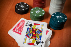 Grzebaków układy scaleni i rodzajowi karta do gry Obraz Stock