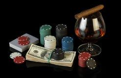Grzebaków układ scalony i dolarowi rachunki Fotografia Stock