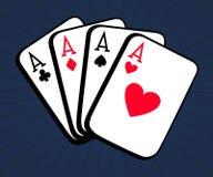 grzebak Cztery as karty ilustracyjnej Zdjęcie Stock