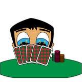 Grzebaka gracz wygrywa pieniądze Odosobniona akcyjna wektorowa ilustracja ilustracji