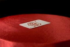 grzebaka karciany rocznik Obrazy Royalty Free