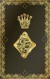 Grzebaka karta do gry Diamentowy symbol, wektor Fotografia Stock