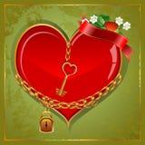 Grzebaka serce royalty ilustracja