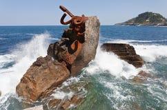 grzebieniowy n San sebasti Spain wiatr Obrazy Royalty Free