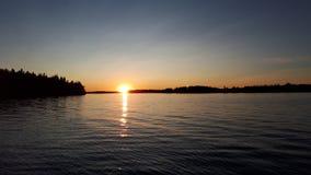 Grzechu jeziorny światełko fotografia stock