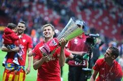 Grzegorz Krychowiak of FC Sevilla Stock Photos