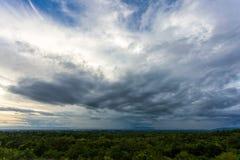 grzmot burzy nieba Podeszczowe chmury fotografia stock