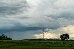 grzmot burzy nieba Podeszczowe chmury zdjęcia stock