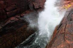 Grzmot dziury Acadia park narodowy Obraz Royalty Free