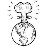 Grzyba atomowy nakreślenie ilustracji