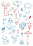 Grzybowi doodles Zdjęcia Royalty Free